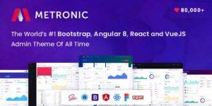 Metronic – Bootstrap 4 HTML, React, Angular 9, VueJS & Laravel Admin Dashboard Theme
