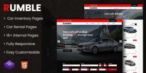 Rumble – Car Rental Booking HTML Template