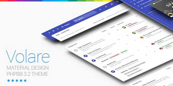 Volare – Material Design phpBB Theme